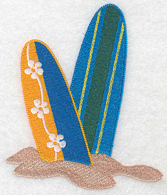 "Embroidery Design: Surf boards medium  4.97""h x 4.14""w"