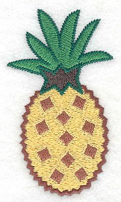 "Embroidery Design: Pineapple medium  3.83""h x 2.14""w"