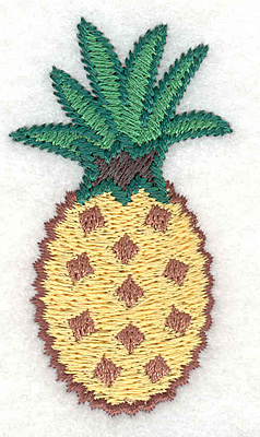 """Embroidery Design: Pineapple small  2.48""""h x 1.47""""w"""