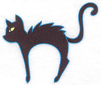 Embroidery Design: Black cat 5.62w X 4.86h