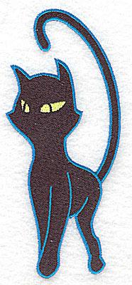 Embroidery Design: Proud black cat large 2.15w X 4.95h