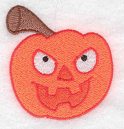 Embroidery Design: Scary pumpkin 2.16w X 2.37h