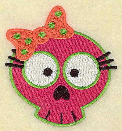 Embroidery Design: Little girl skull 3.19w X 3.50h