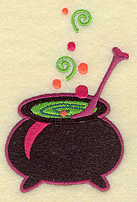 Embroidery Design: Witches cauldron small 2.56w X 3.75h