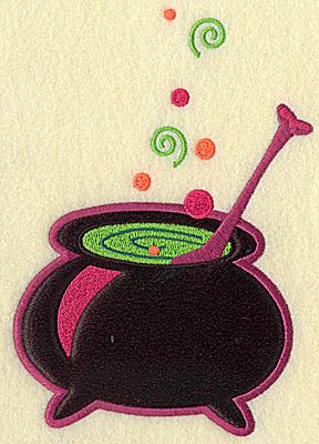Embroidery Design: Witches cauldron large applique 6.73w X 4.61h