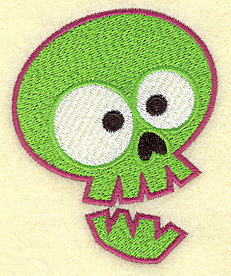 Embroidery Design: Spookie skull small2.81w X 3.47h