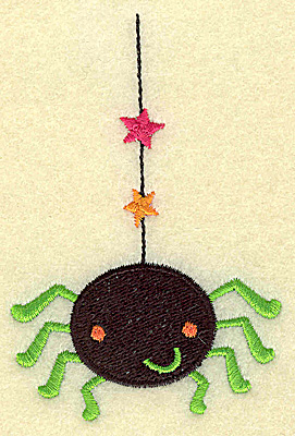 Embroidery Design: Spider hanging on web small 2.58w X 3.89h