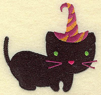 Embroidery Design: Black cat small 3.42w X 3.28h