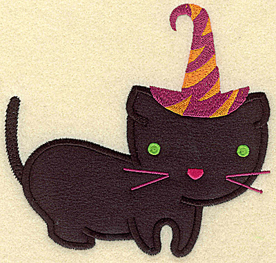 Embroidery Design: Black cat large applique 5.19w X 4.98h