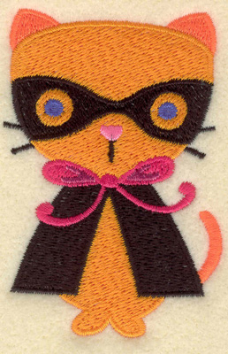 Embroidery Design: Cat in costume small 2.34w X 3.45h