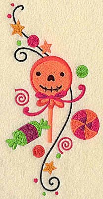 Embroidery Design: Halloween Treats large 6.89w X 3.38h