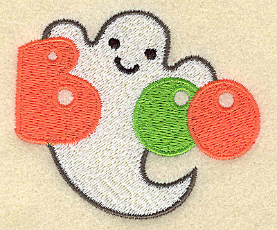 Embroidery Design: Boo small  3.00w X 2.56h