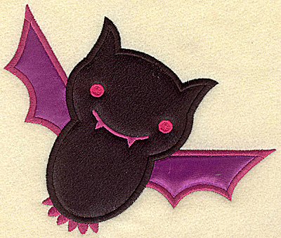 Embroidery Design: Bat large double applique 5.88w X 4.96h