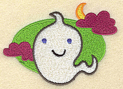 Embroidery Design: Ghost small 3.53w X 2.56h