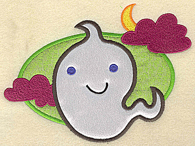 Embroidery Design: Ghost large double applique 6.88w X 4.97h