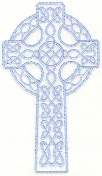 Embroidery Design: Celtic cross3.99w X 7.00h