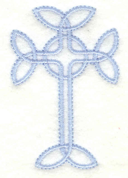 Embroidery Design: Cross small<br>1.58w X 2.41h
