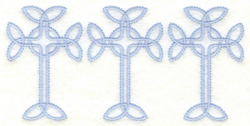 Embroidery Design: Cross border5.00w X 2.41h