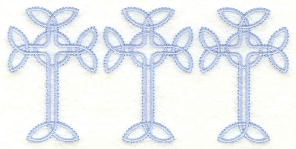 Embroidery Design: Cross border5.00w X 2.41h
