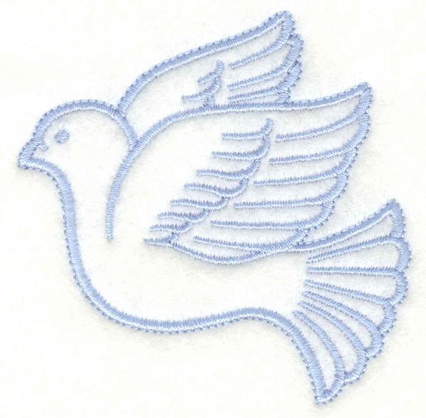 Embroidery Design: Dove2.95w X 3.00h