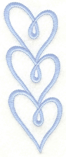 Embroidery Design: Heart border1.77w X 5.00h