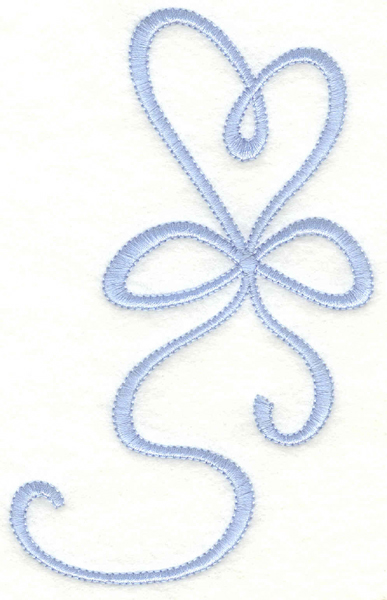 Embroidery Design: Heart ribbon3.17w X 5.00h