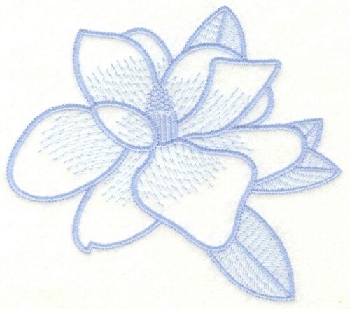 Embroidery Design: Magnolia5.64w X 4.95h