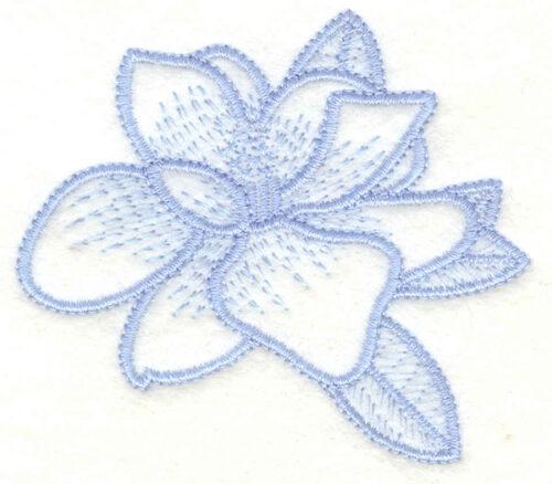 Embroidery Design: Magnolia small3.00w X 2.63h