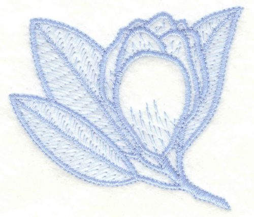 Embroidery Design: Magnolia bud2.95w X 2.55h