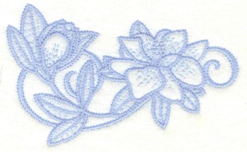 Embroidery Design: Magnolia cluster4.41w X 2.70h