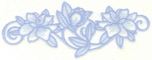 Embroidery Design: Magnolia border7.00w X 2.70h
