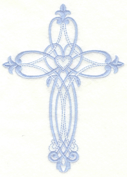 Embroidery Design: Cross4.99w X 6.94h