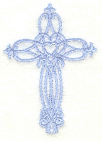 Embroidery Design: Cross small2.15w X 3.00h