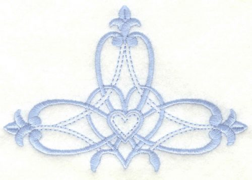 Embroidery Design: Cross embellishment4.99w X 3.38