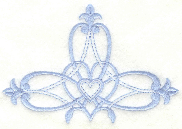 Embroidery Design: Cross embellishment4.99w X 3.38