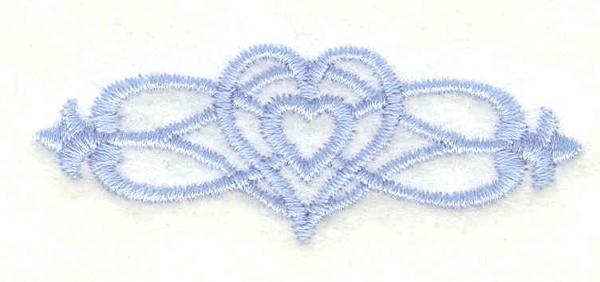 Embroidery Design: Cross border 2 mini2.27w X 0.84h