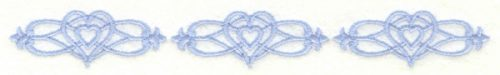 Embroidery Design: Cross borders6.99w X 0.84h