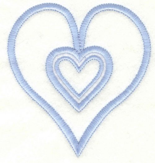 Embroidery Design: Hearts3.63w X 3.90h