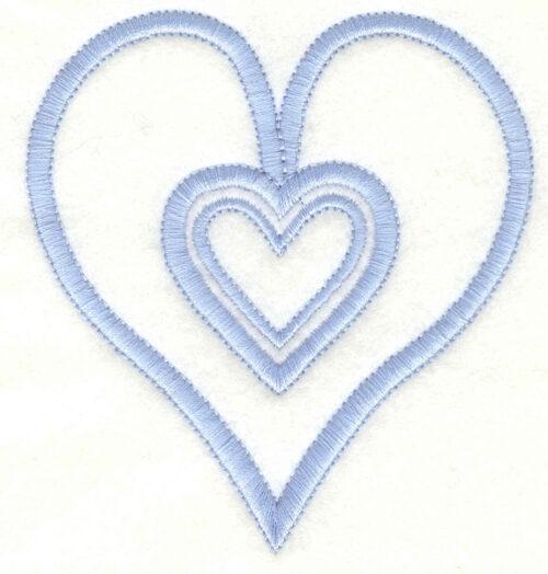 Embroidery Design: Hearts3.63w X 3.90h