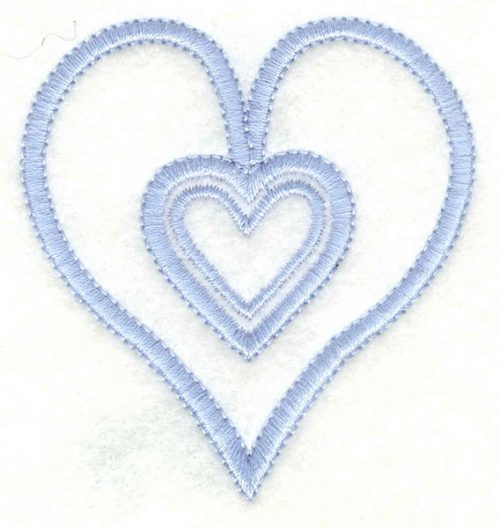 Embroidery Design: Hearts small2.33w X 2.50h