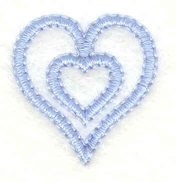 Embroidery Design: Hearts mini0.96w X 1.01h