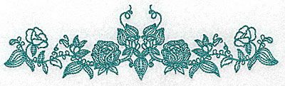 Embroidery Design: Heritage Border 2A 6.91w X 1.91h