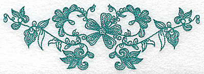 Embroidery Design: Heritage Border 6A 6.85w X 2.37h