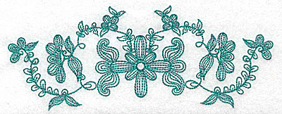 Embroidery Design: Heritage Border 7A 6.92w X 2.72h