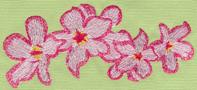 "Embroidery Design: Heavenly Hibiscus Group6.01"" x 2.72"""