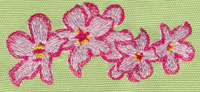 "Embroidery Design: Heavenly Hibiscus Group (small)4.00"" x 1.83"""