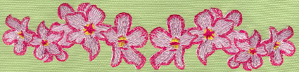 "Embroidery Design: Heavenly Hibiscus Row8.05"" x 1.83"""