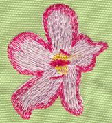 "Embroidery Design: Heavenly Hibiscus 12.02"" x 2.38"""