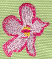 "Embroidery Design: Heavenly Hibiscus 1 (small)1.36"" x 1.60"""