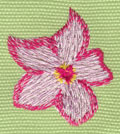 "Embroidery Design: Heavenly Hibiscus 21.45"" x 1.68"""